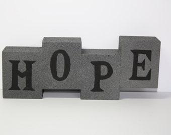 HOPE Wood Block Sign