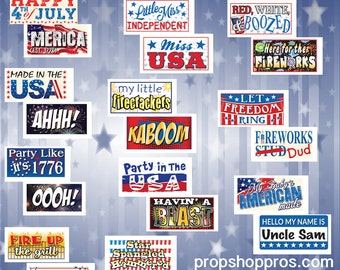 USA / 4th of July Props | USA Signs | July 4th Props | Photo Booth Props | Prop Signs