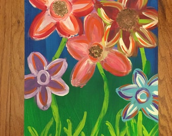 Funky Flowers - SOLD