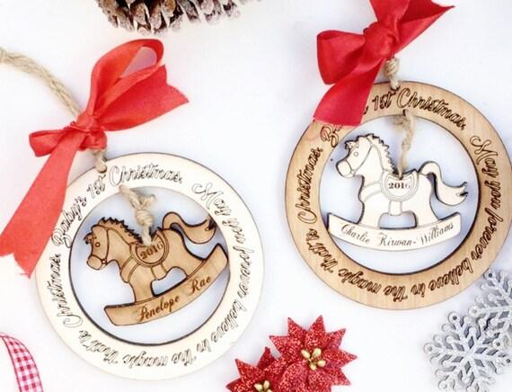 Items similar to 1st christmas decoration babys first for Babys first christmas decoration