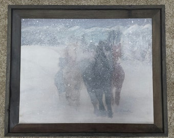 Winter Storm Painting on canvas