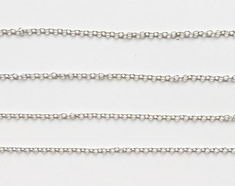 Silver plated chain 2x1,5mm (1 metre)