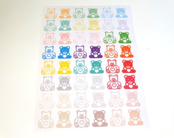 Unique Teddy Bear Stickers Related Items Etsy