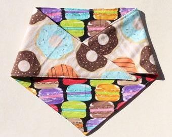Macaron Donuts Reversible Tie On Dog Bandana