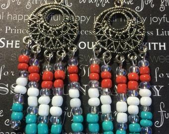 Red White Blue Patriotic Earrings