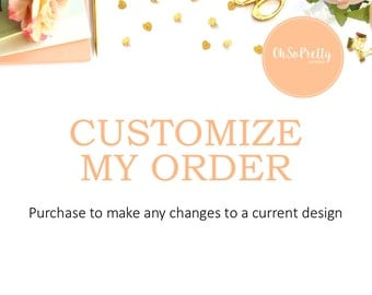 Customize Your Order ADD ON