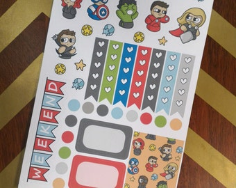 AvengeBits Planner Sampler Sticker Sheet
