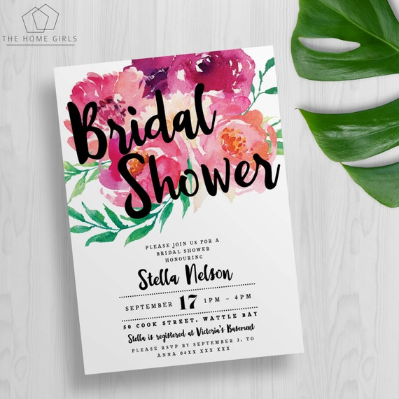 kitchen tea invites ideas printable floral bridal shower invitation by 20089