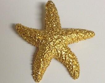 Vintage Starfish Brooch | Goldtone Starfish Brooch | Textured Starfish Brooch | Starfish | Starfish Pin
