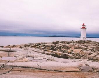 Peggy's Cove Lighthouse, Print or Canvas, 90% of Profits Donated to Charity, Nova Scotia, east coast, home decor, office decor, ocean