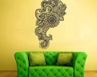 rvz1730 Wall Decal Vinyl Sticker Art Decor Bedroom Flowers Bedroom Mandala