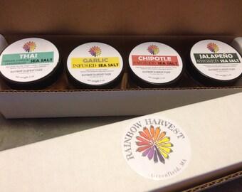 Infused Salt Gift Pack of 4 Jars (2 oz each)