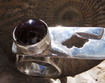 ring in Silver 925 and black star