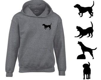 Crafty beagle grey hoodie sweatshirt