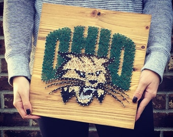 Ohio University Bobcats String Art