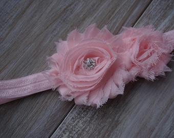 Beautiful Shabby Flowers Headband