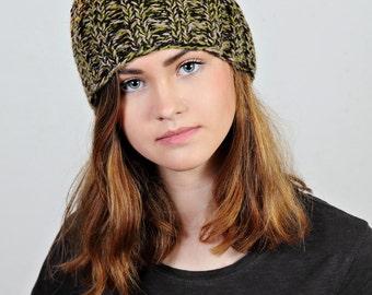 Yellow knit hat,green beanie,blue beanie hat,multicolour knit hat,multicolour beanie hat,Ready to ship