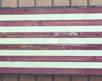 Distressed American flag wall mount