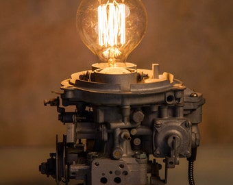 Carburetor lamp / Industrial Lamp /Vintage lamp / Steampunk Light / Car Lamp / Desk Lamp / Table Lamp
