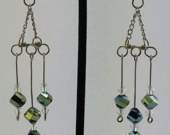 Asteroid shower earrings