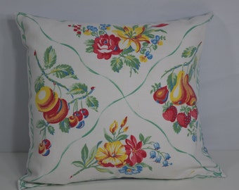 Vintage Tablecloth Pillow Shams