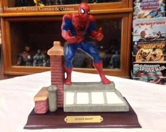 Vintage 1990 Marvel Collection Limited Edition Spider-Man Porcelain Statue