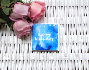 Two pack – small birthday greeting cards