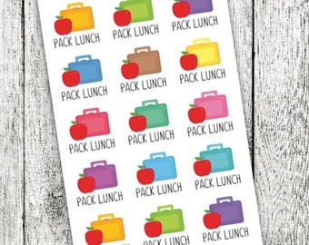 Pack Lunch Planner Stickers