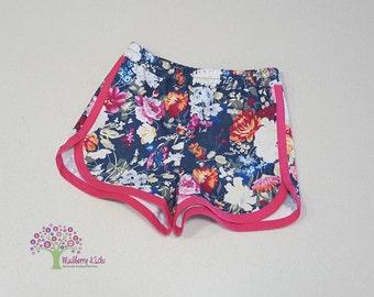 Floral Denim 'Taylor Shorts'
