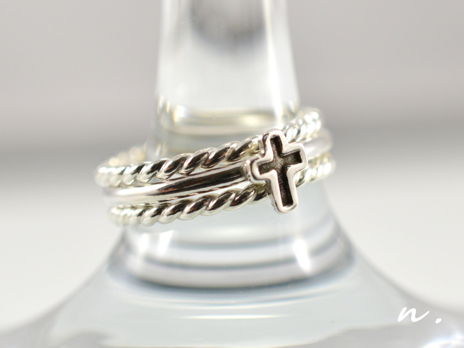 cross ring christian ring promise ring tiny cross ring