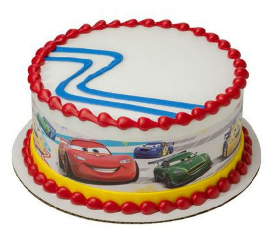 Edible Cake Images Cars : Cars Movie cake strips edible image frosting by ...