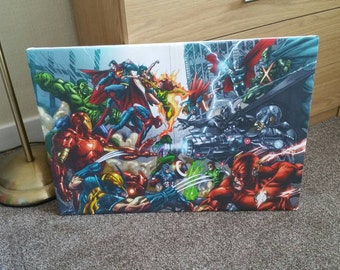 Marvel and DC Canvas