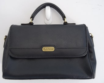 1970s vintage Lanza handbag with carry handle