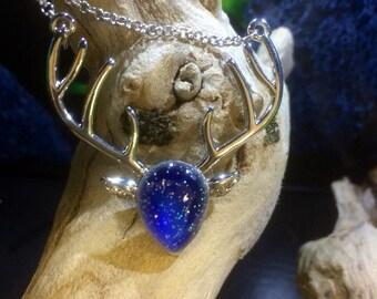 Deer charm necklace