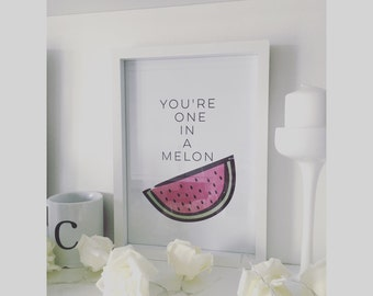 One in a Melon watermelon print.