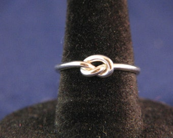 Sterling Silver Overhand Knot Ring