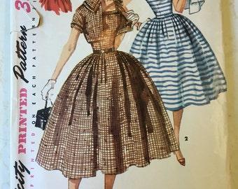 1958 Simplicity Dress Pattern 1056