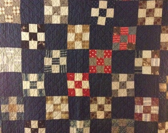 Antique hand quilted quilt