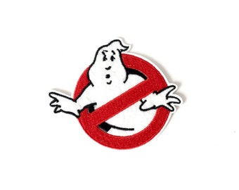 Ghostbusters ghost, logo, icon, cartoon iron-on, sew on patch, Applique, Motif