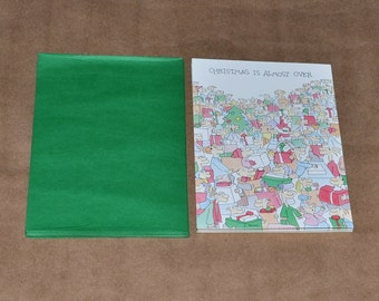 9 Vintage Carlton Anna B. Unused Christmas Cards with Envelops, circa 1980s