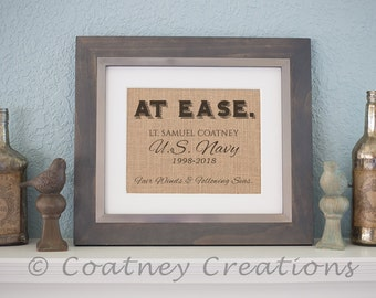 At Ease Retirement Print in Burlap - Personalized just for you!