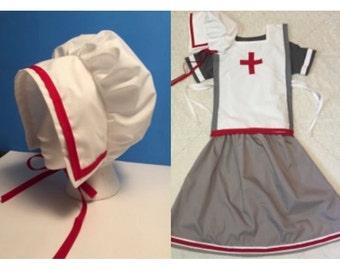 Clara Barton Costume/Girls sizes 6/8, 10/12, 14/16, Important people/Wax Museum/Dress up/school presentations