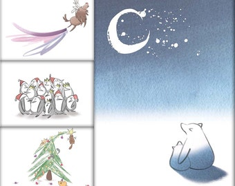 Pack of 4 Assorted Christmas Cards