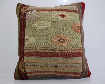 free shipping kilim pillow 16x16 kilim cushion cover vintage patchwork kilim pillow throw pillow cushion cover patchwork cushion SP4040-805