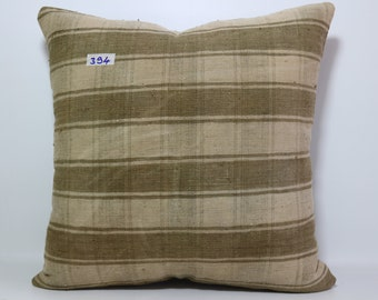 Striped Turkish Kilim Pillow 20x20 Vintage Turkish Kilim Pillow,Kilim Cushion Cover Throw Pillow,Boho Pillow SP5050-394
