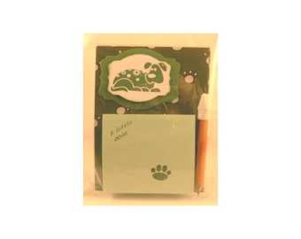 Cute Post-it Note Holder, Dog Post-it Note holder, Sticky Note Pad, Great for Dog Lover