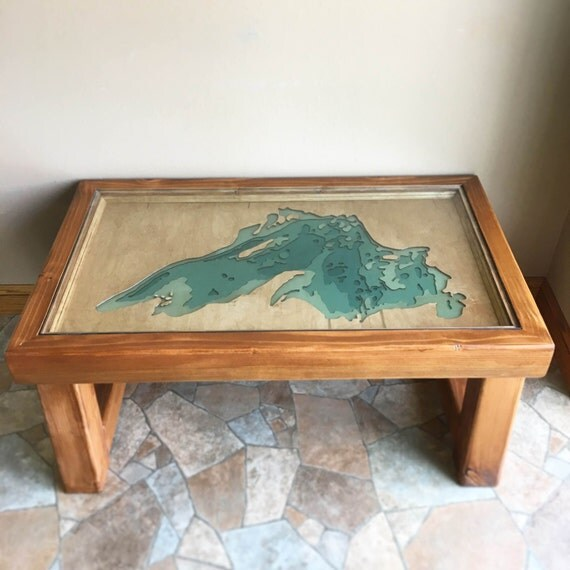 Items similar to lake superior epoxy resin lake art handmade cedar coffee table one of a One of a kind coffee tables