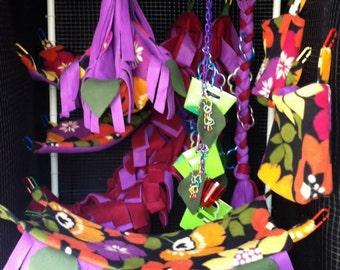 Sugar Glider or Rat Deluxe 10-Piece Hammock Cage Set - Cage Set with Toy - Sugar Glider Cage Set - Rat Hammock Set - Custom Fabric Choice