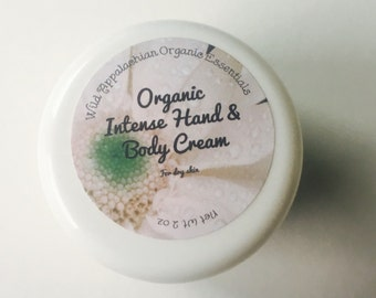 LUXURIOUS and HEALING Organic Hand & Body Cream- 3 Butters, 4 Herbs, 5 oils, PLUS essential oils! Can customize