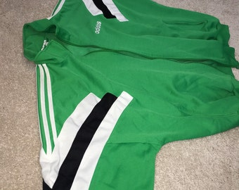 80s Vintage ADIDAS track jacket Trefoil retro throwback RUN DMC Hip hop party windbreaker jacket shirt bright colors full zip addidas